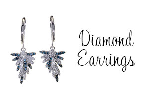 Sparkling Diamonds feature in these elegant 9ct and 18ct Gold earrings - for pierced ears.