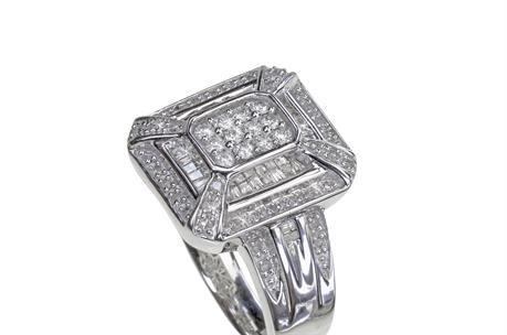 16994accb51 9ct White Gold 1 2ct Diamond Vintage style Ring.